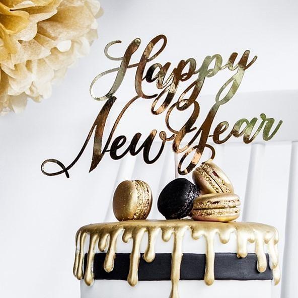 Tortenstecker Happy New Year