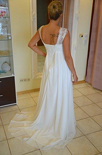 Brautkleid TRAUM Hochzeitskleid A-Linie Umstandskleid Weiß Ivory Größe 34 bis 52 (44, Ivory) - 4