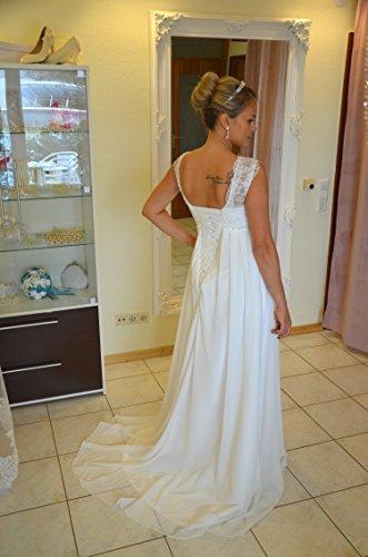 Brautkleid TRAUM Hochzeitskleid A-Linie Umstandskleid Weiß Ivory Größe 34 bis 52 (44, Ivory) - 7