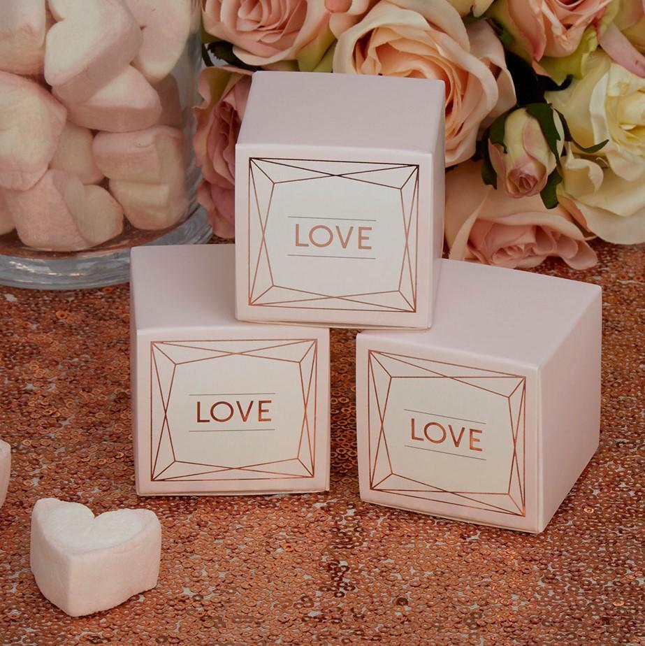 "Verpackung ""Love"" - rosegold"