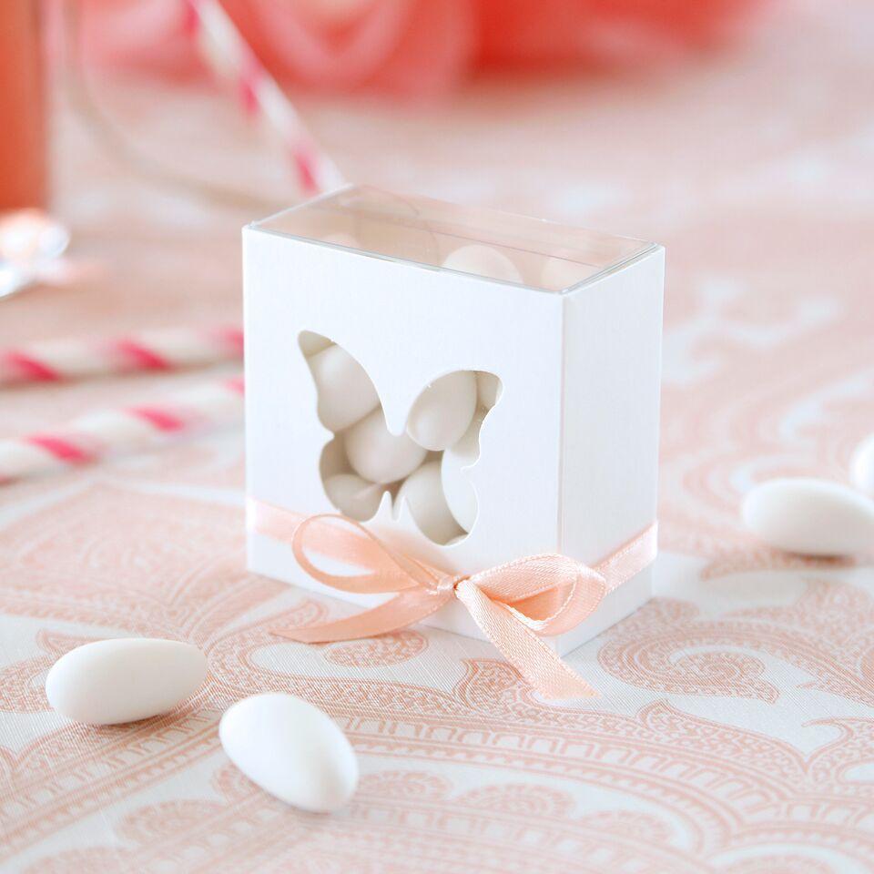 """Verpackung """"Schmetterling"""" - transparent weiß"""