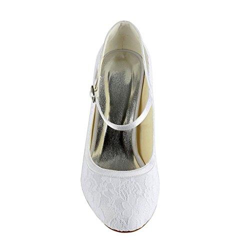 Jia Jia Wedding 3113 Hochzeitsschuhe Brautschuhe Damen Pumps weiß, EU 39 - 5