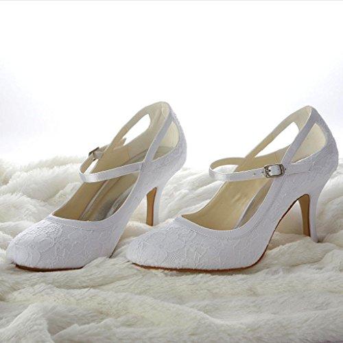 Jia Jia Wedding 3113 Hochzeitsschuhe Brautschuhe Damen Pumps weiß, EU 39 - 8