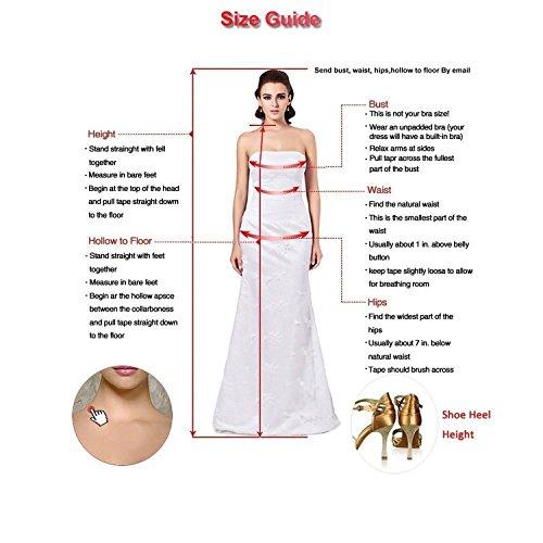 Dresstells Damen Kurz Gipüre Neckholder Ballkleid Homecoming Kleider Champagner Größe 36 - 6
