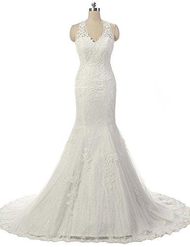 JAEDEN Neckholder Meerjungfrau Hochzeitskleid