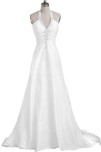Gorgeous Bride Sexy Neckholder Brautkleid, Weiss