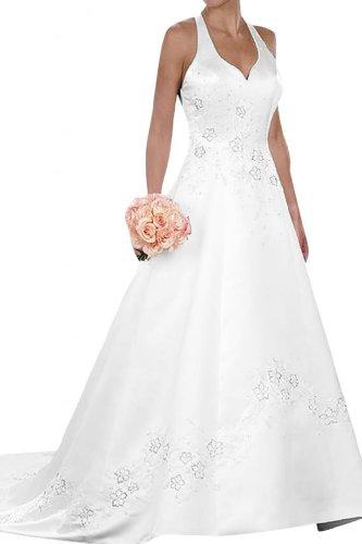 Gorgeous Bride Sexy Neckholder Prinzessinnen Brautkleid, Weiss