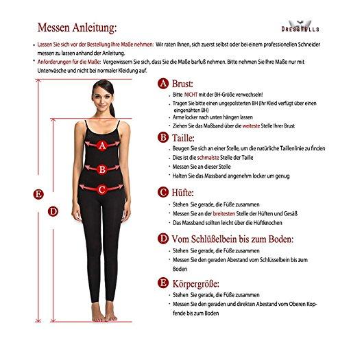 Dresstells Damen Kurz Neckholder Cocktailkleider Rückenfrei Party Kleider mit Strass Weiß Übergröße 54W - 6