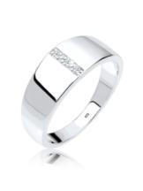 Diamore Ring Basic Bandring Diamant 925er Sterling Silber Diamore Weiß