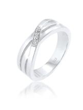 Diamore Ring Cross Over Verlobung Diamant 0.03 ct. 925 Silber Diamore Silber
