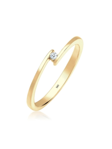 Diamore Ring Solitär Verlobungsring Diamant 0.03 ct. 585 Gold Diamore Gold