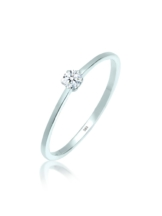 Diamore Ring Verlobungsring Diamant 0.10 ct. 585 Weißgold Diamore Weiß