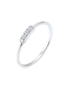 Diamore Ring Verlobungsring Trio Diamant (0.06 ct.) 925 Silber Diamore Silber