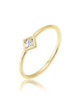 Elli Premium Ring Verlobungsring Geo Diamant (0.03 ct.) 375 Gelbgold Elli Premium Gold