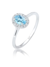 Elli Premium Ring Verlobungsring Topas Diamant (0.16 ct.) 925 Silber Elli Premium Silber