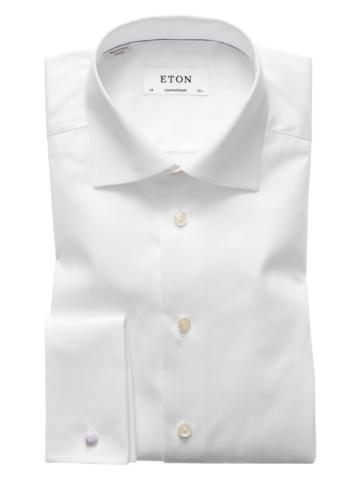 Designerhemd mit Umschlagmanschette von Eton in Weiss für Herren