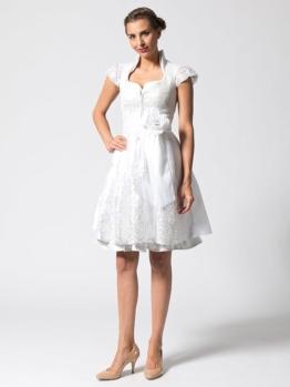 Halali by Astrid Söll Hochzeits-Midi-Dirndl ´´White Angel - Marry me´´ in Weiß - 61% | Größe 42 | Damen dirndl