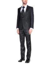 CARLO PIGNATELLI Herren Anzug Farbe Schwarz Größe 4
