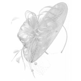 McBURN Haarschmuck Fascinator mit Federn und Schleier
