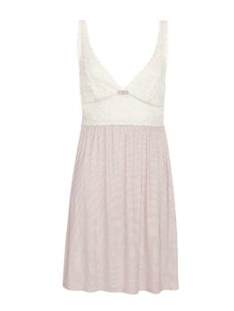 Negligé mit Spitze, Länge 90cm Triumph Opal Pink