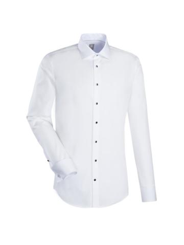 Smokinghemd ´ Custom Fit ´ Jacques Britt uni weiß (0001)