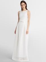 Visuell gestreiftes Hochzeitskleid APART creme