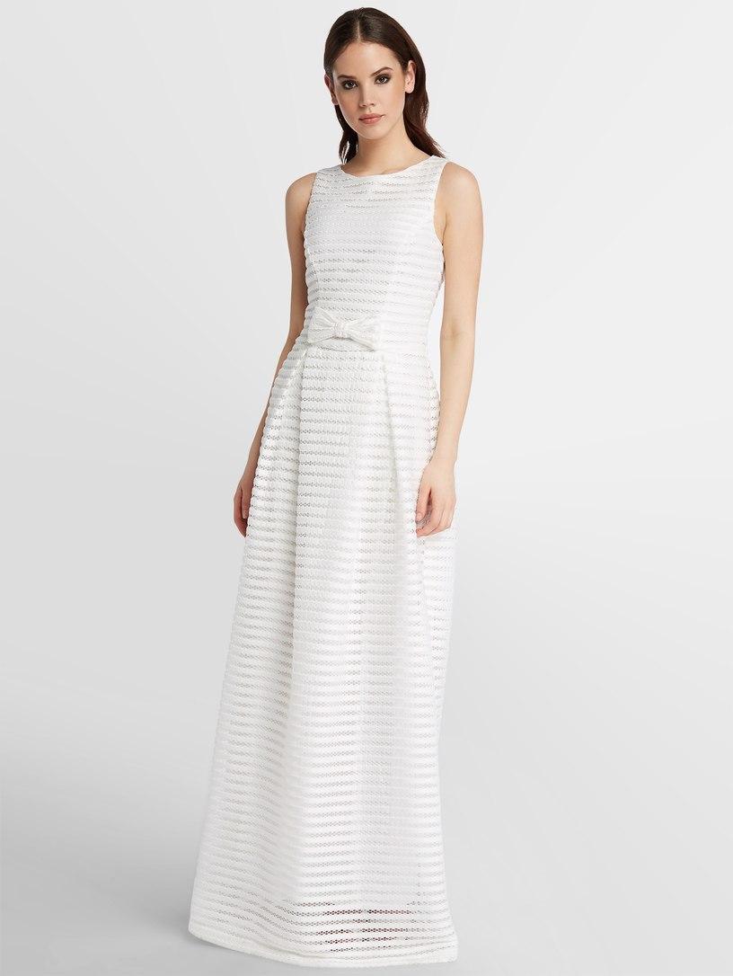 Visuell gestreiftes Hochzeitskleid APART creme - Mode? Ja !!!