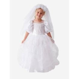 Brautkleid-Kostüm für Mädchen weiß Gr. 92/104 von vertbaudet